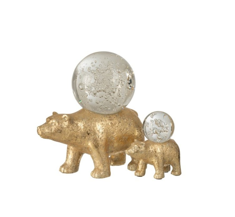 Paperweight Beer Glass Ball On Spine Gold - Large