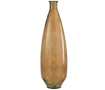 J-Line Bottle Vase Glass high Transparent Brown - Large