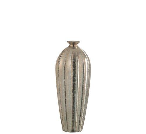 J -Line Bottle Vase Glass Classic Champagne - Large