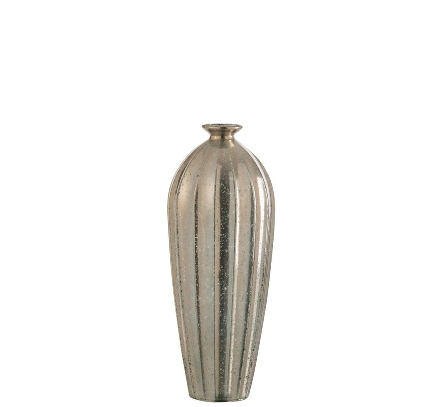 Bottle Vase Glass Classic Champagne - Large