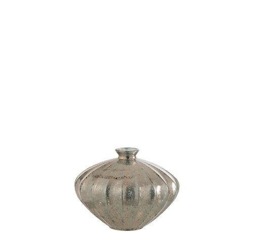 J -Line Bottle Vase Glass Low Classic Champagne - Large