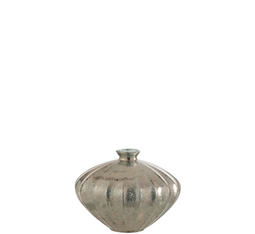 Bottle Vase Glass Low Classic Champagne - Large