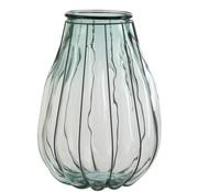 J-Line Vaas Glas Metaal Transparant Blauw - Large