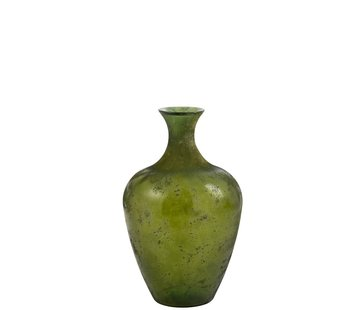 J -Line Bottle Vase Glass Elegant Matt Green - Small