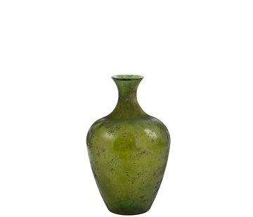 J -Line Flessen Vaas Glas Elegant Mat Groen - Small