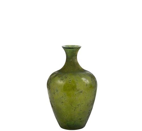 J-Line Flessen Vaas Glas Elegant Mat Groen - Small