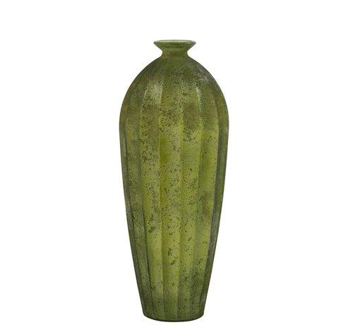 J -Line Bottle Vase Glass High Classic Matt Green - Large