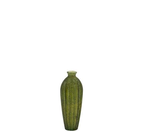 J -Line Bottle Vase Glass High Classic Matt Green - Small