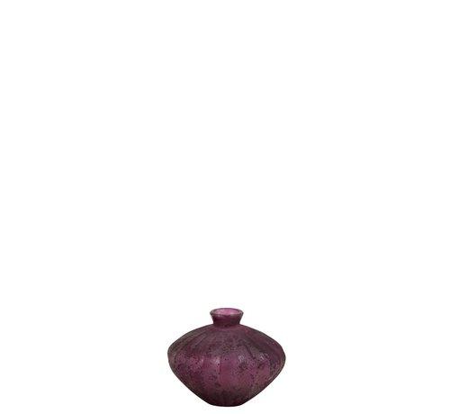 J -Line Bottle Vase Glass Low Classic Bordeaux - Small