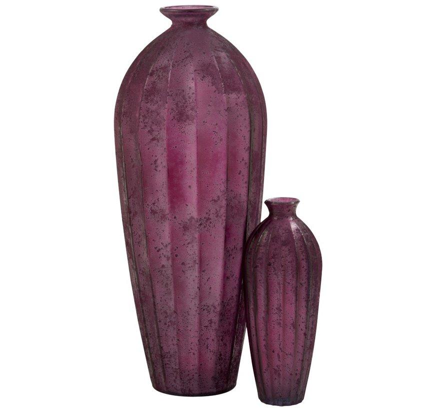 Flessen Vaas Glas Hoog Klassiek Bordeaux - Small