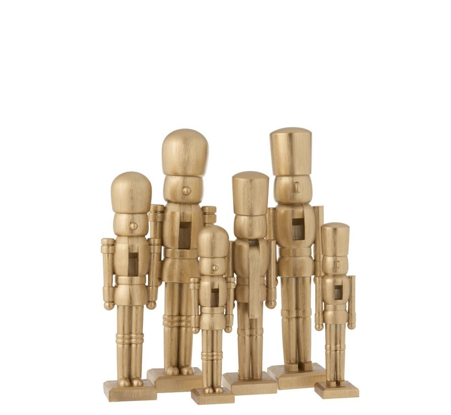Decoration Figure Two Soldiers Poly Champagne - Medium
