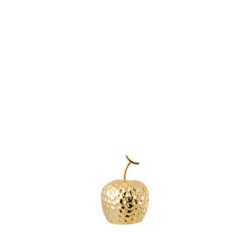 J -Line Decoration Apple Relief Ceramic Gold - Extra Small