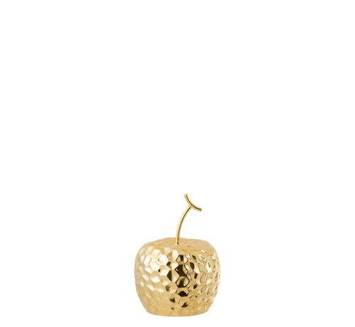J -Line Decoration Apple Relief Ceramic Gold - Small