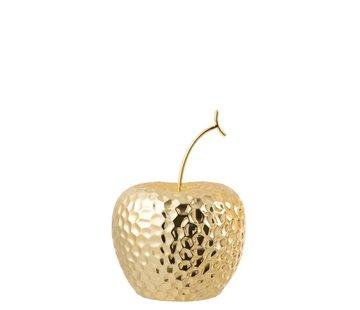 J -Line Decoration Apple Relief Ceramic Gold - Large