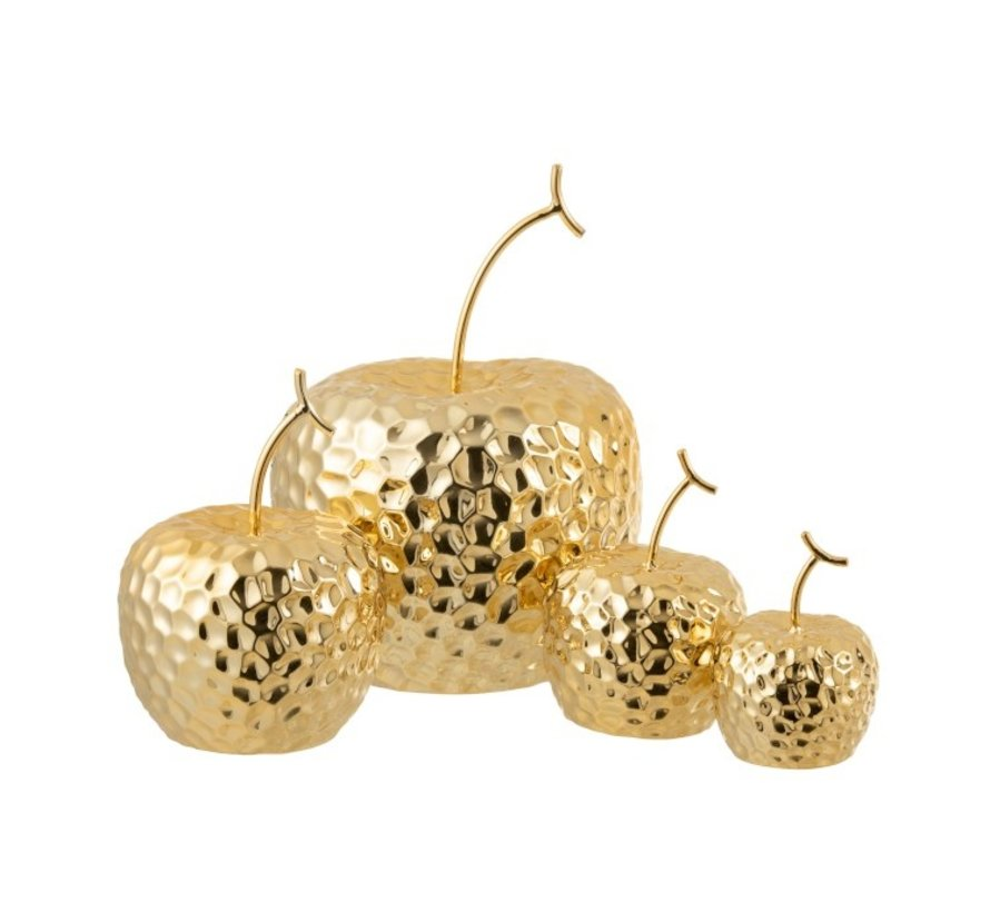 Decoration Apple Relief Ceramic Gold - Large