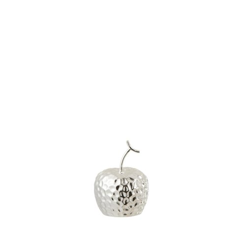 J -Line Decoration Apple Relief Ceramic Silver - Extra Small