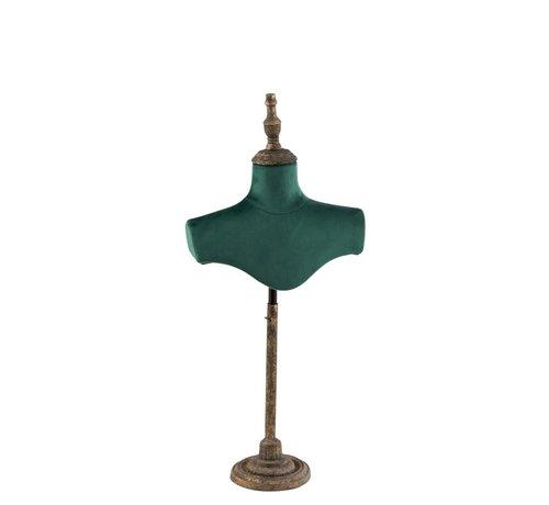 J -Line Decoratieve Buste Schouders Textiel Metaal - Groen