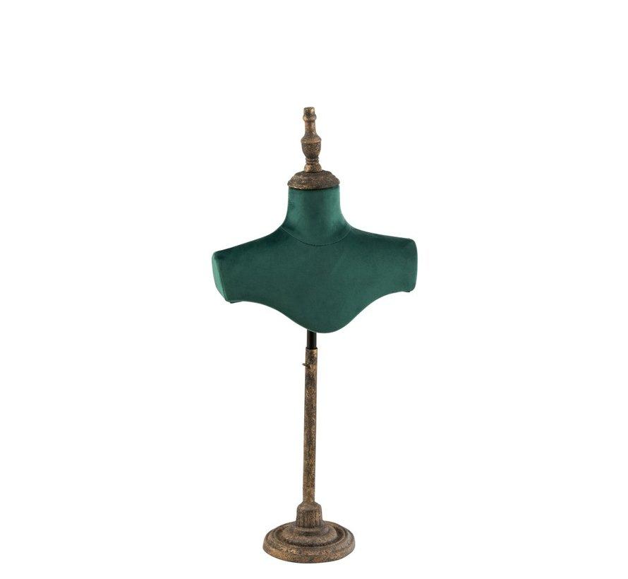 Decoratieve Buste Schouders Textiel Metaal - Groen