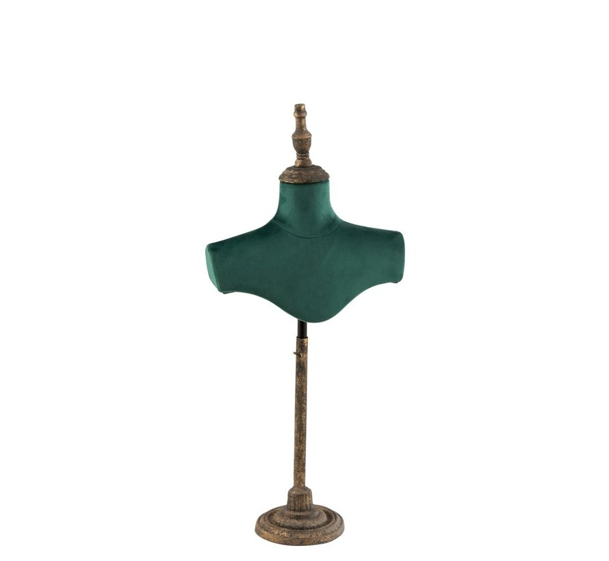Decorative Bust Shoulders Textile Metal - Green