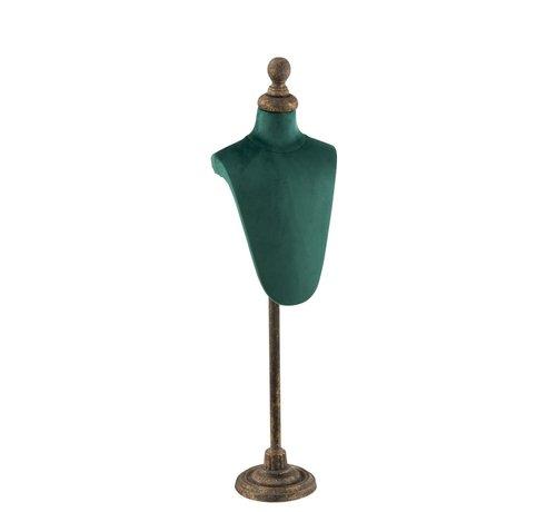 J -Line Decoratieve Buste Romp Textiel Metaal - Groen