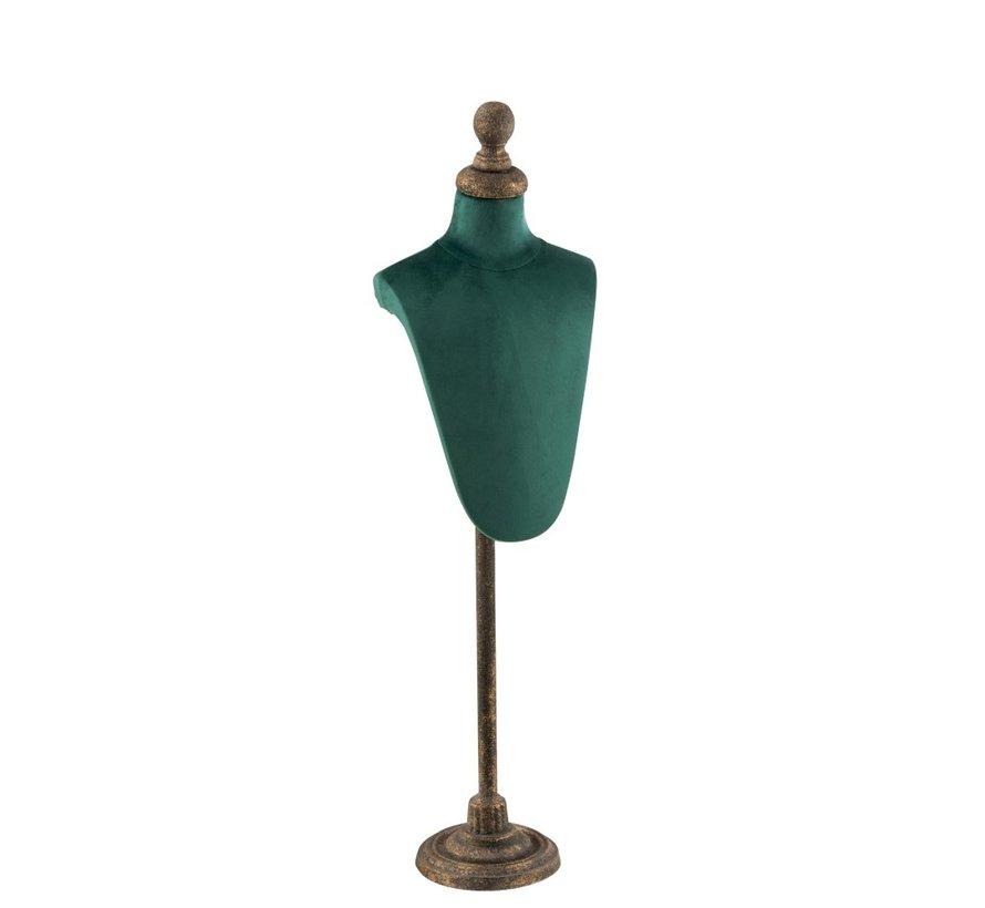 Decoratieve Buste Romp Textiel Metaal - Groen