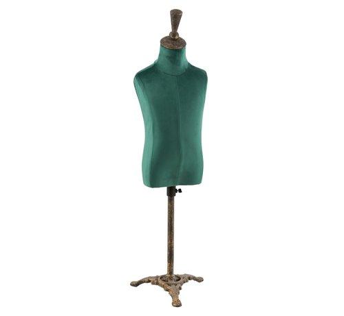 J -Line Decoratieve Buste Heren Textiel Metaal - Groen