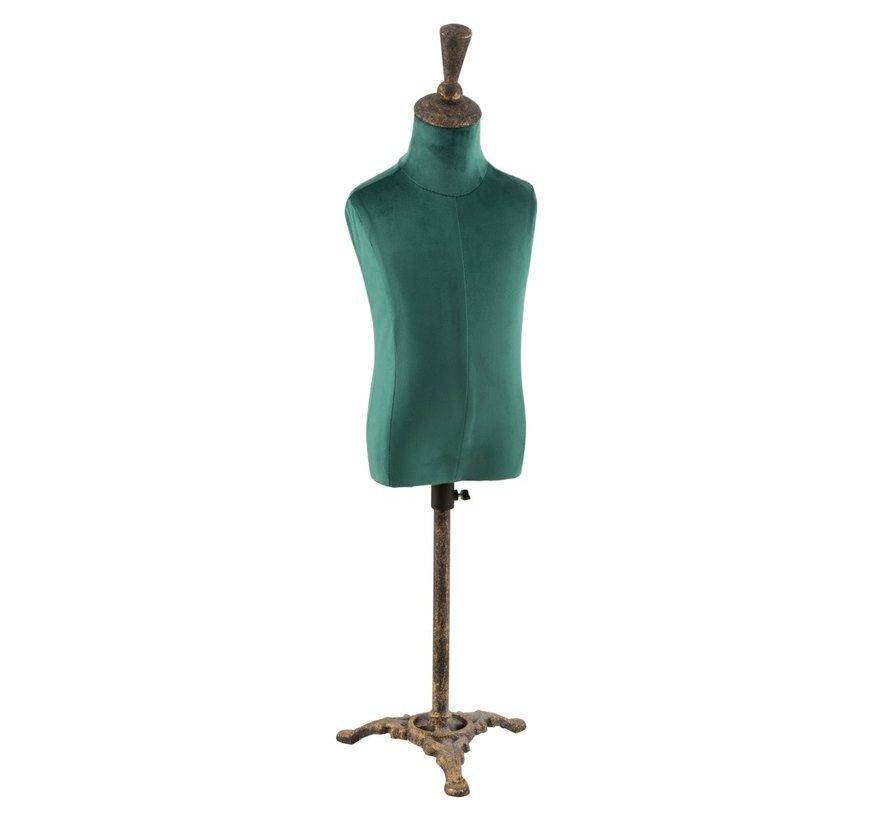 Decoratieve Buste Heren Textiel Metaal - Groen