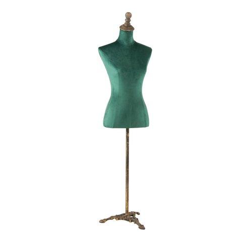 J -Line Decoratieve Buste Dames Textiel Metaal - Groen