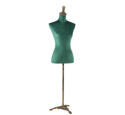 J -Line Decorative Bust Ladies Textile Metal - Green