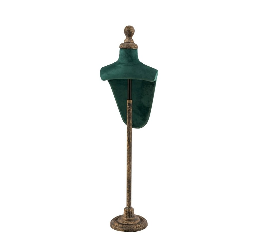 Decorative Bust Hull Textile Metal - Green