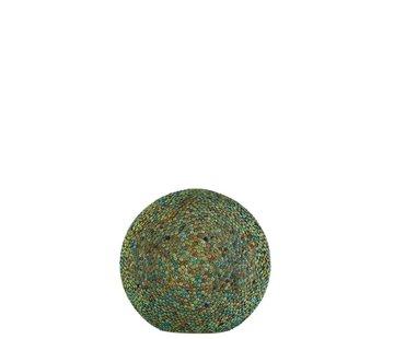 J -Line Tafellamp Bol Parels Glas Led Blauw - Groen