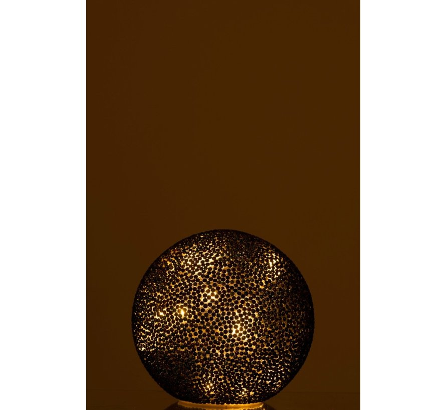 Table Lamp Spherical Pearls Glass Led Blue - Green