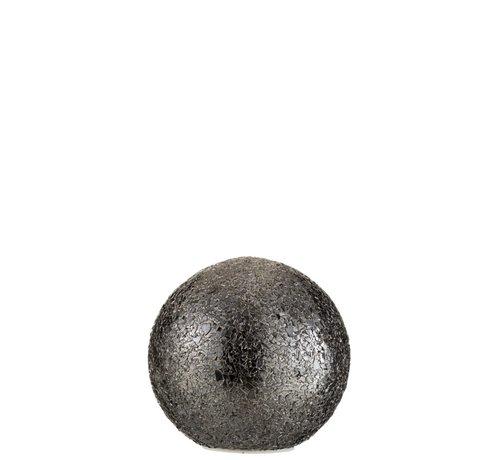 J-Line Table Lamp Spherical Broken Glass LED Lighting - Black