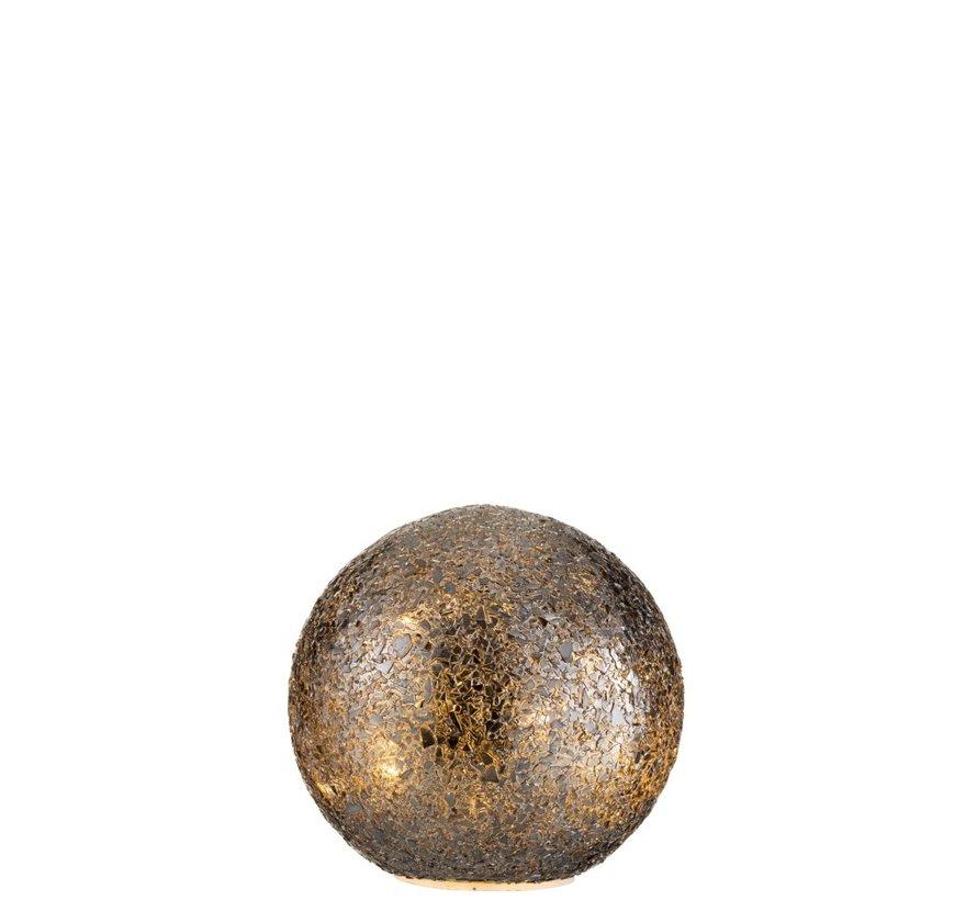Table Lamp Spherical Broken Glass LED Lighting - Black