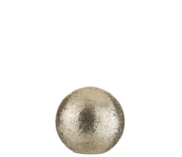 J -Line Tafellamp Bol gebroken Glas Led Verlichting - Zilver