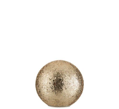 J-Line Table lamp Sphere broken glass LED Lighting - Gold