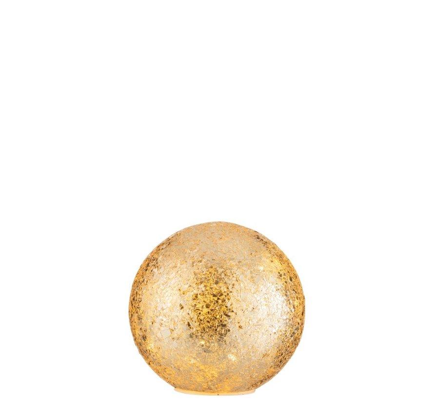 Table lamp Sphere broken glass LED Lighting - Gold