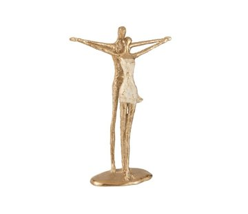 J -Line Decoration Figure Couple Open Arms - Gold