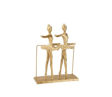J -Line Decoration Figure Two Ballerinas On Foot - Gold