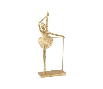 J-Line  Decoratie Figuur Ballerina Been Omhoog - Goud