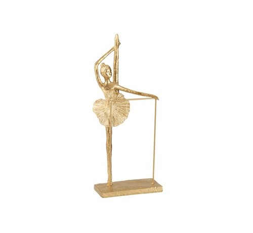 J -Line Decoration Figure Ballerina Leg Up - Gold