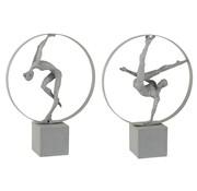J-Line Decoration Figure Gymnasts In Rings Gray - Beige