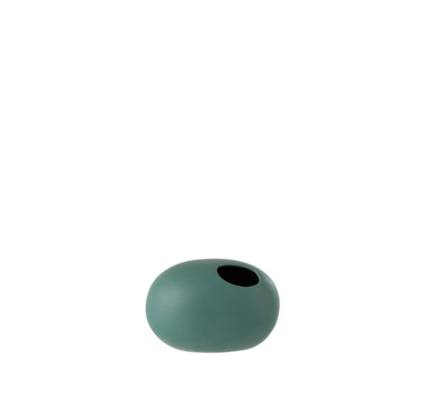 Vaas Ovaal Keramiek Pastel Mat Groen - Small