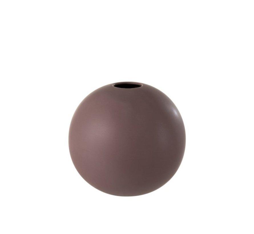 Vase Ball Ceramic Pastel Matt Purple - Large