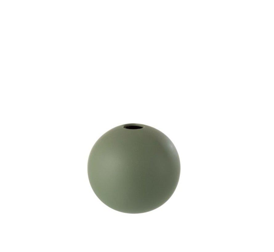 Vaas Bol Keramiek Pastel Mat Groen - Medium