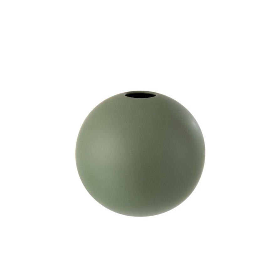 Vase Ball Ceramic Pastel Matt Green - Large