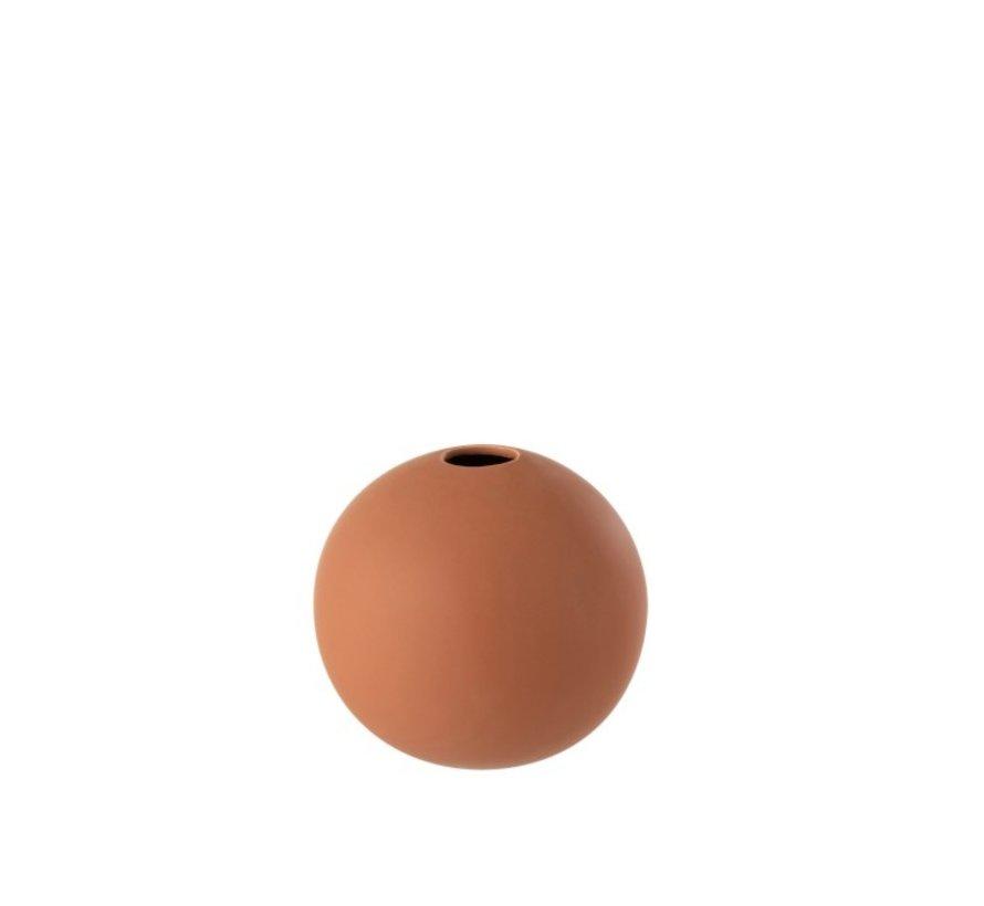 Vase Sphere Ceramic Pastel Matt Rust - Medium