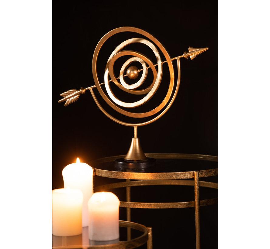 Decorative Rotating Compass Rose Aluminum - Gold