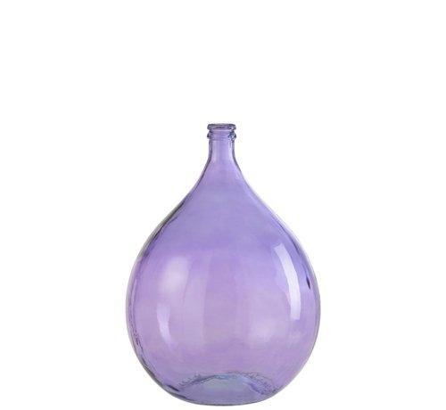 J -Line Bottles Vase Tall Glass Summer Light Purple - Large