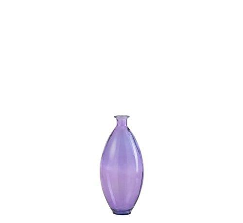 J -Line Flessen Vaas Smal Glas Zomers Lichtpaars - Medium
